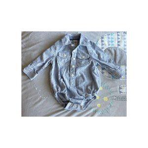 Baby B'gosh BodySuit Navy Long Sleeve